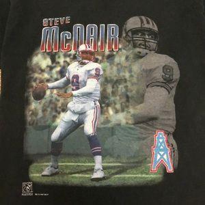 Houston Oilers Shirts - Vintage NFL Tennessee Houston Oilers McNair Tshirt 8bbb96bf2